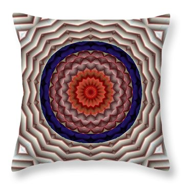Throw Pillow featuring the digital art Mandala 10 by Terry Reynoldson