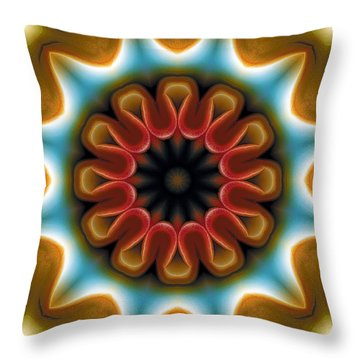 Throw Pillow featuring the digital art Mandala 100 by Terry Reynoldson