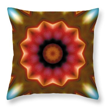 Throw Pillow featuring the digital art Mandala 103 by Terry Reynoldson