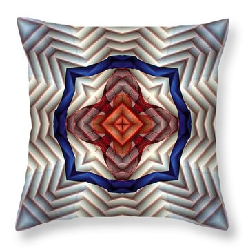 Mandala 11 Throw Pillow by Terry Reynoldson