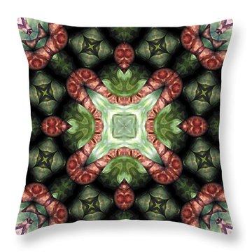 Mandala 113 Throw Pillow by Terry Reynoldson