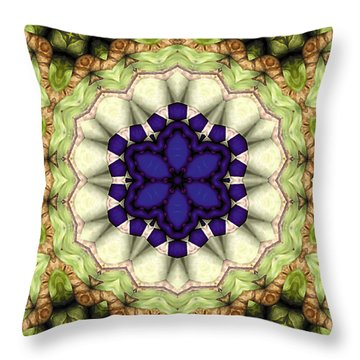 Mandala 114 Throw Pillow by Terry Reynoldson