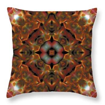 Mandala 119 Throw Pillow by Terry Reynoldson