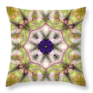 Throw Pillow featuring the digital art Mandala 127 by Terry Reynoldson