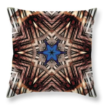 Throw Pillow featuring the digital art Mandala 13 by Terry Reynoldson