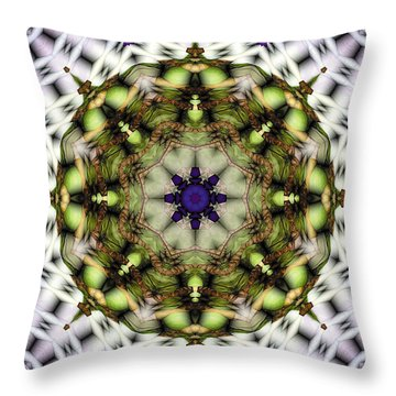 Throw Pillow featuring the digital art Mandala 21 by Terry Reynoldson