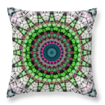 Throw Pillow featuring the digital art Mandala 26 by Terry Reynoldson
