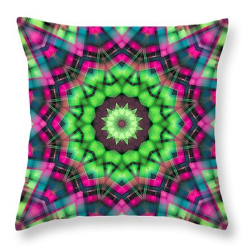 Throw Pillow featuring the digital art Mandala 29 by Terry Reynoldson