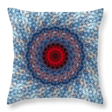 Throw Pillow featuring the digital art Mandala 3 by Terry Reynoldson