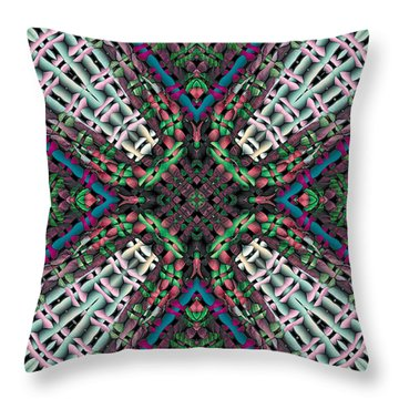 Throw Pillow featuring the digital art Mandala 32 by Terry Reynoldson
