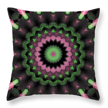Throw Pillow featuring the digital art Mandala 34 by Terry Reynoldson