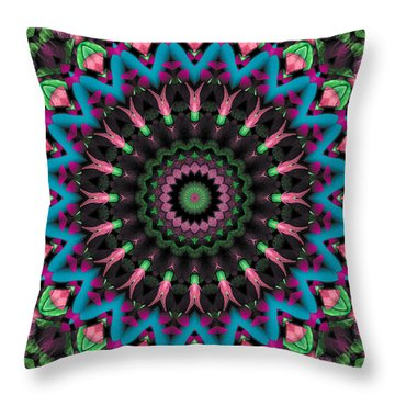 Throw Pillow featuring the digital art Mandala 35 by Terry Reynoldson