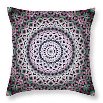 Throw Pillow featuring the digital art Mandala 38 by Terry Reynoldson
