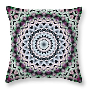 Throw Pillow featuring the digital art Mandala 40 by Terry Reynoldson