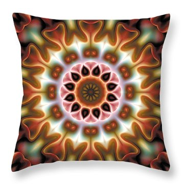 Throw Pillow featuring the digital art Mandala 67 by Terry Reynoldson
