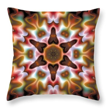 Throw Pillow featuring the digital art Mandala 68 by Terry Reynoldson