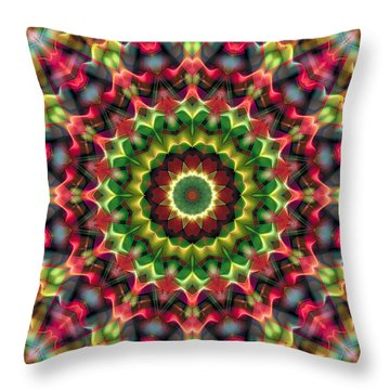 Throw Pillow featuring the digital art Mandala 70 by Terry Reynoldson
