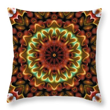 Throw Pillow featuring the digital art Mandala 71 by Terry Reynoldson