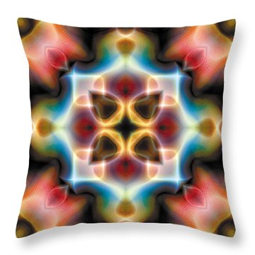 Throw Pillow featuring the digital art Mandala 77 by Terry Reynoldson