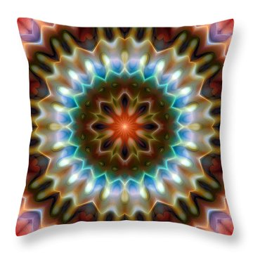 Throw Pillow featuring the digital art Mandala 79 by Terry Reynoldson