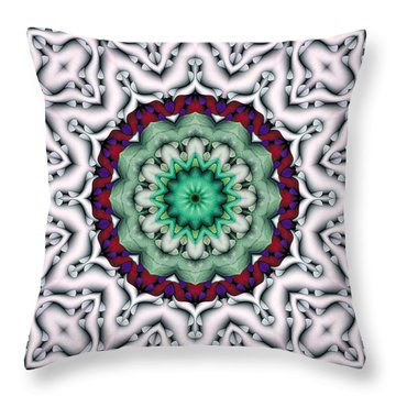 Throw Pillow featuring the digital art Mandala 8 by Terry Reynoldson