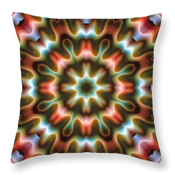 Throw Pillow featuring the digital art Mandala 80 by Terry Reynoldson