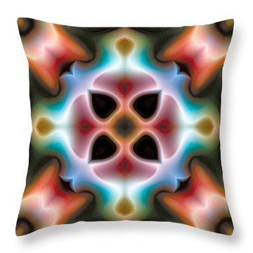 Throw Pillow featuring the digital art Mandala 82 by Terry Reynoldson