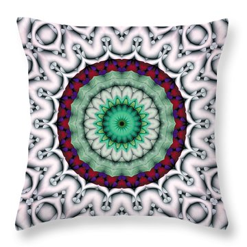 Throw Pillow featuring the digital art Mandala 9 by Terry Reynoldson