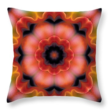 Throw Pillow featuring the digital art Mandala 91 by Terry Reynoldson