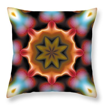 Throw Pillow featuring the digital art Mandala 94 by Terry Reynoldson