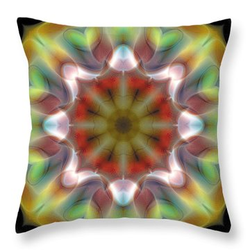 Throw Pillow featuring the digital art Mandala 97 by Terry Reynoldson