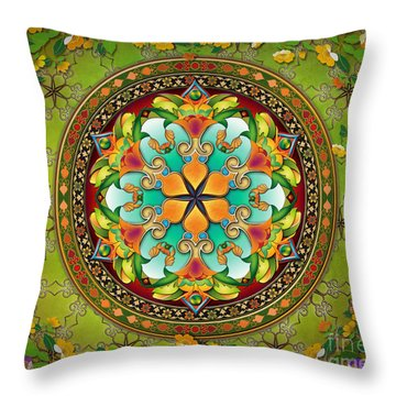 Mandala Evergreen Sp Throw Pillow