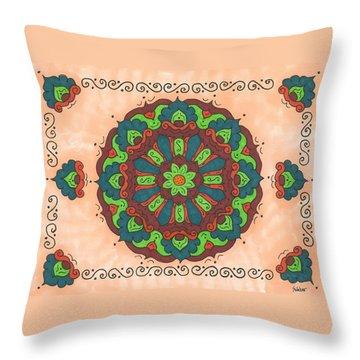 Mandala Love Throw Pillow by Susie WEBER