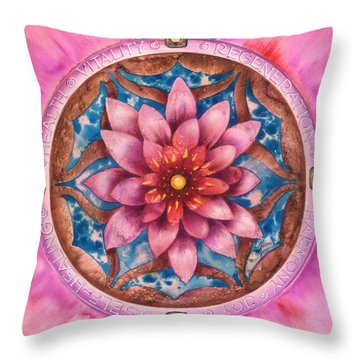 Mandala Of Health Throw Pillow