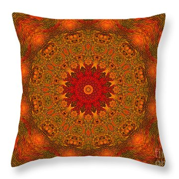 Mandala Of The Rising Sun - Spiritual Art By Giada Rossi Throw Pillow