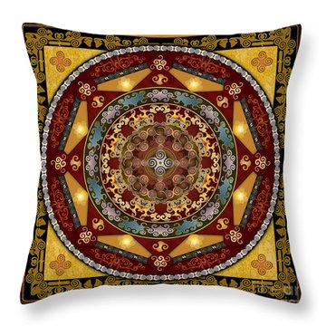 Mandala Oriental Bliss Throw Pillow