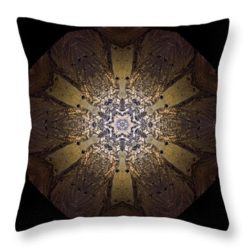 Throw Pillow featuring the photograph Mandala Sand Dollar At Wells by Nancy Griswold
