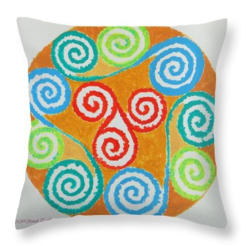 Throw Pillow featuring the painting Mandala by Sonali Gangane