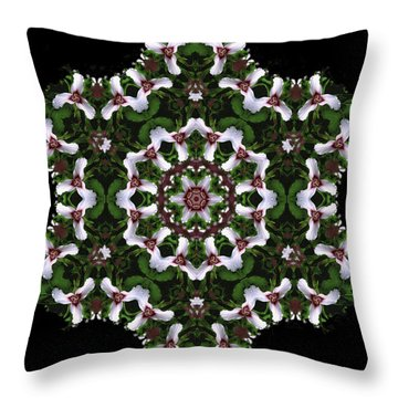 Mandala Trillium Holiday Throw Pillow