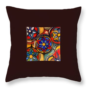 Mandalas Vintage Throw Pillow