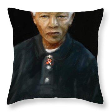 Throw Pillow featuring the digital art Mandela by Vannetta Ferguson