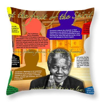 Mandela's Rainbow With Scripture Throw Pillow
