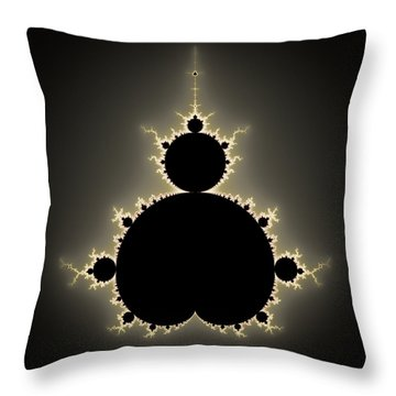 Mandelbrot Set Square Format Art Throw Pillow