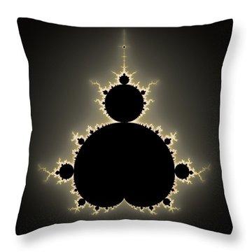 Mandelbrot Set Square Format Art Throw Pillow by Matthias Hauser