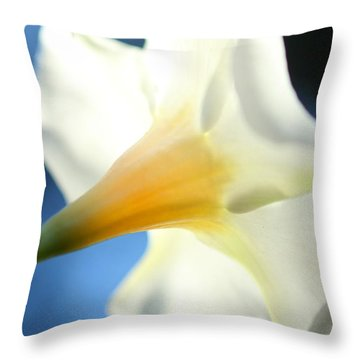 Throw Pillow featuring the photograph Mandevilla by Greg Allore