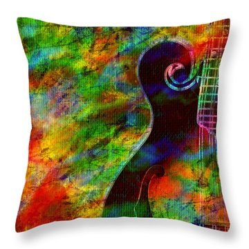 Mandolin Magic Throw Pillow