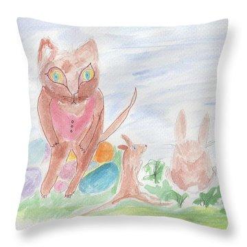 Mandy Pandy Throw Pillow