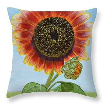 Mandy's Magnificent Sunflower Throw Pillow