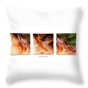 Mane Dance Triptych Throw Pillow