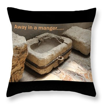 Manger At The Ecce Homo Convent In Jerusalem Throw Pillow by Jennifer Kathleen Phillips